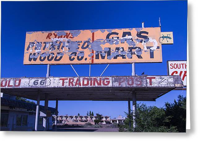 Old Signage Greeting Cards - Old 66 Trading Post Greeting Card by Garry Gay