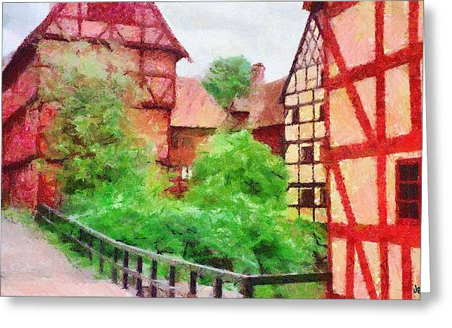 Old Aarhus Greeting Card by Jeff Kolker