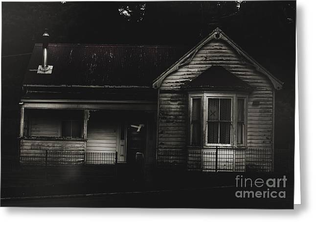 Haunted Shack Greeting Cards - Old abandoned haunted house of horrors Greeting Card by Ryan Jorgensen