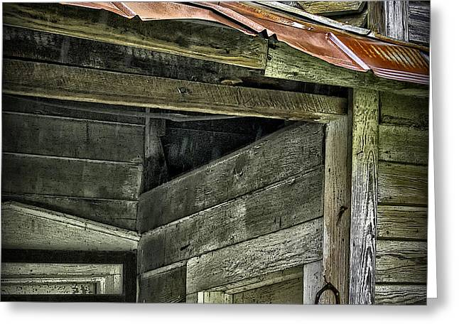 Old Abandoned House Greeting Cards - Old Abandoned House Geometry Greeting Card by Walt Foegelle