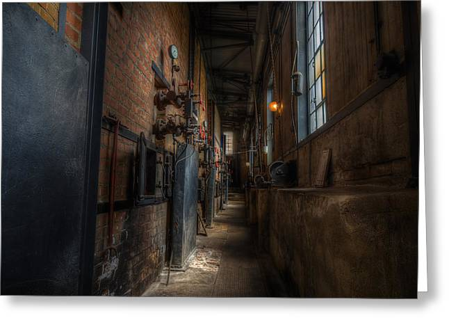 Industrial Concept Greeting Cards - Old Abandoned Industrial Plant Greeting Card by Frank Meitzke
