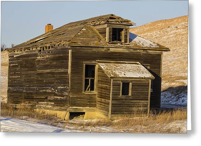 Abandoned School House. Greeting Cards - Old Abandoned School House Greeting Card by Julie Wooden