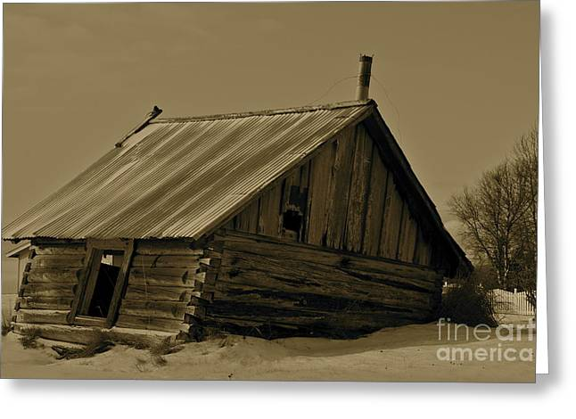 Tin Roof Greeting Cards - Old Age Greeting Card by Rick  Monyahan