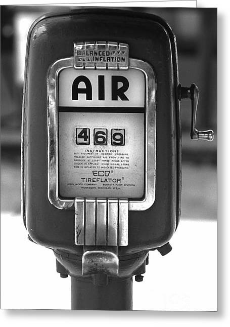 Old Air Pump Greeting Card by Arni Katz