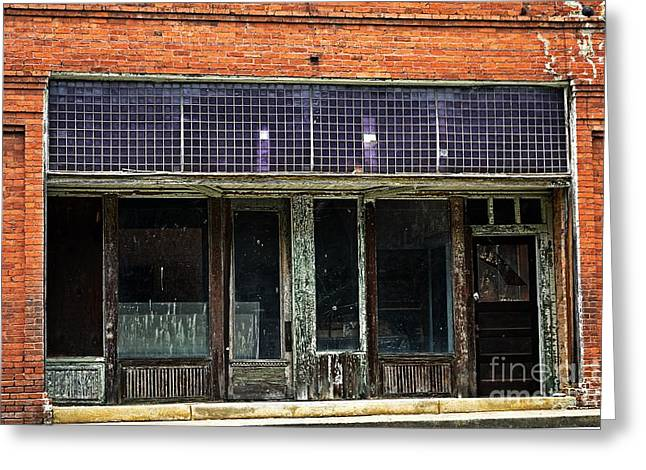 Store Fronts Greeting Cards - Old and Abandoned  Greeting Card by JW Hanley