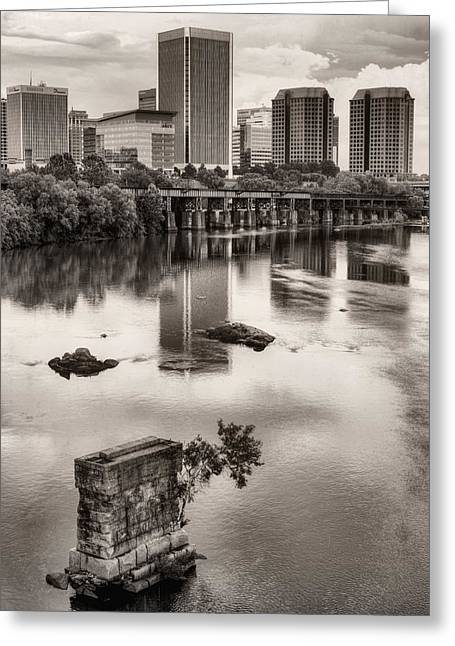 Richmond Bridge Greeting Cards - Old and New Greeting Card by JC Findley