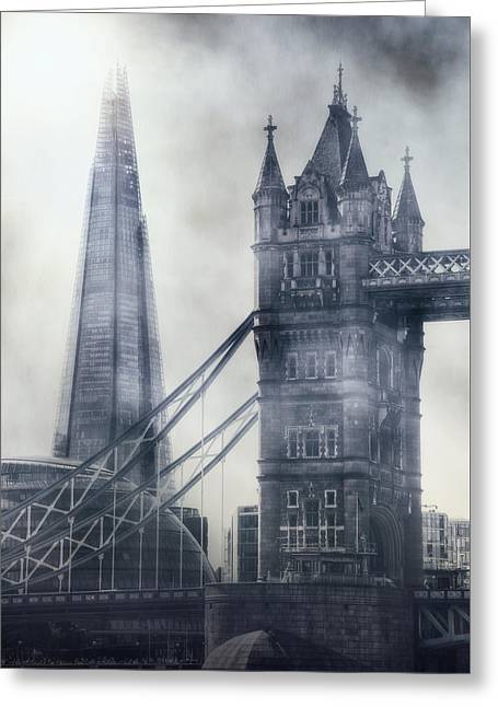 Shards Greeting Cards - old and new London Greeting Card by Joana Kruse