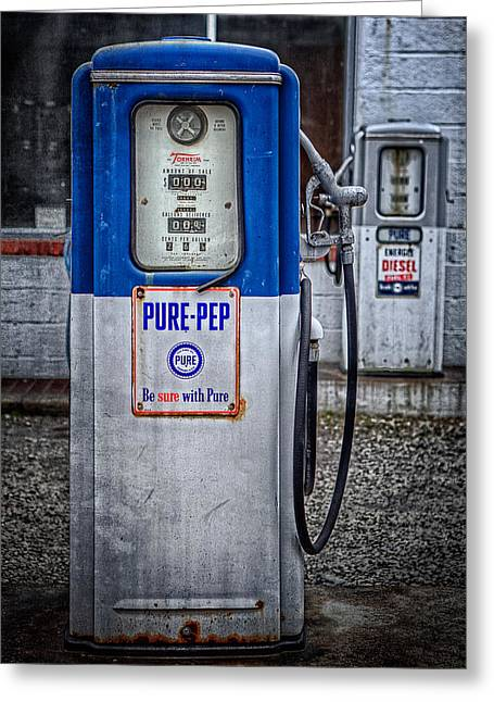 Old And Rusty  Pump  Greeting Card by Emmanuel Panagiotakis