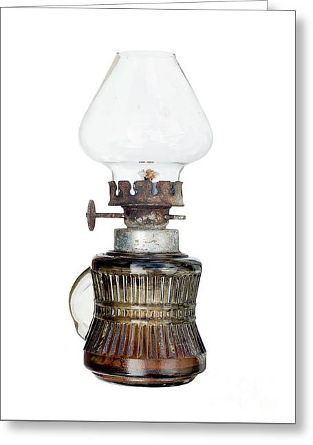 Old And Used Kerosene Lamp Greeting Card by Michal Boubin