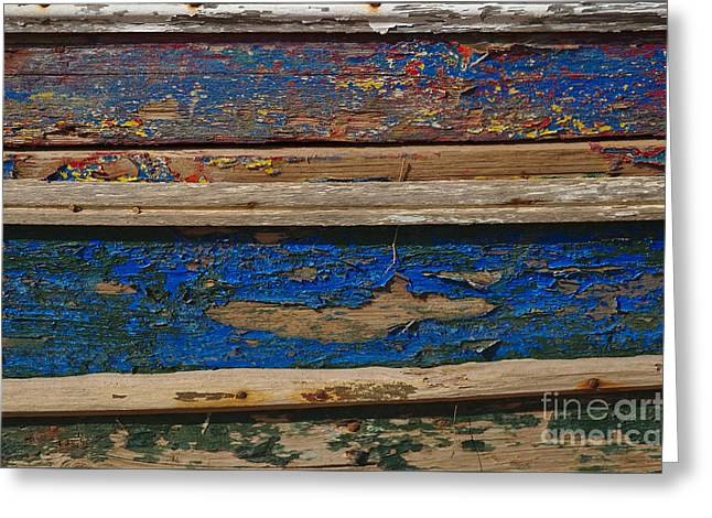 Europe Greeting Cards - Old and washed out boat hull Greeting Card by Angelo DeVal