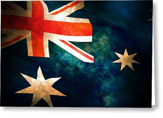 Old Australian Flag Greeting Card by Phill Petrovic