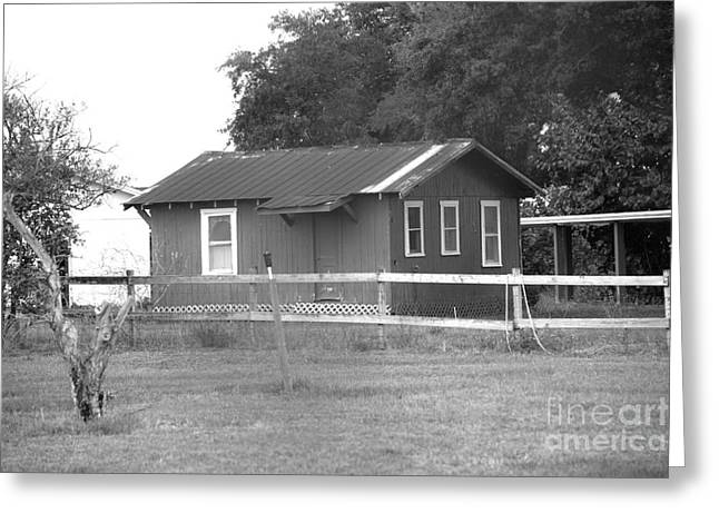 Wall Art Greeting Cards - old barn 1 B W by darrell hutto Greeting Card by Darrell Hutto