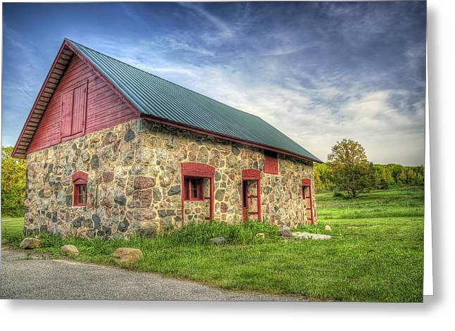 Wisconsin Barn Greeting Cards - Old Barn at Dusk Greeting Card by Scott Norris