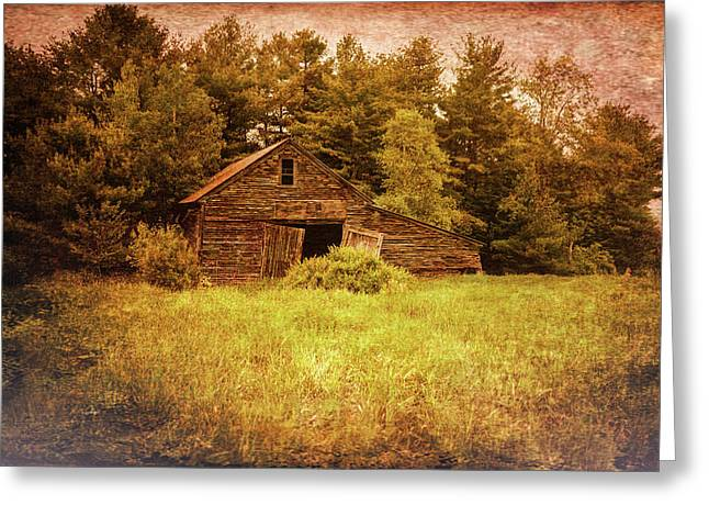 Old Maine Barns Greeting Cards - Old Barn Greeting Card by Bob Orsillo