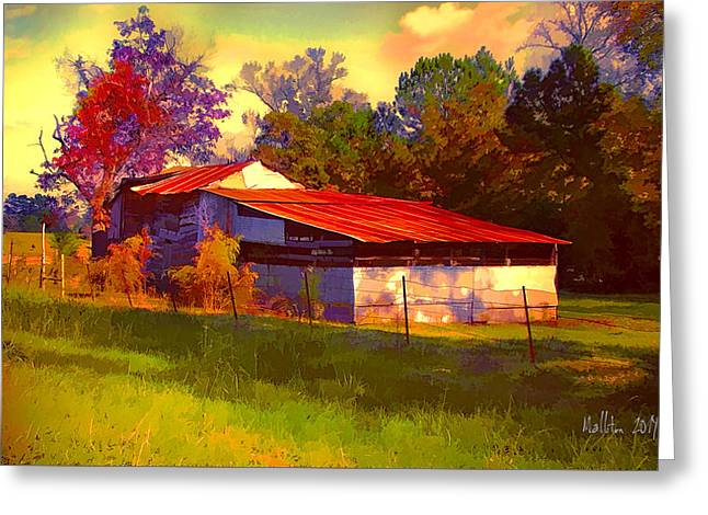 Red Roofed Barn Greeting Cards - Old Barn in East Texas Greeting Card by Marty Malliton
