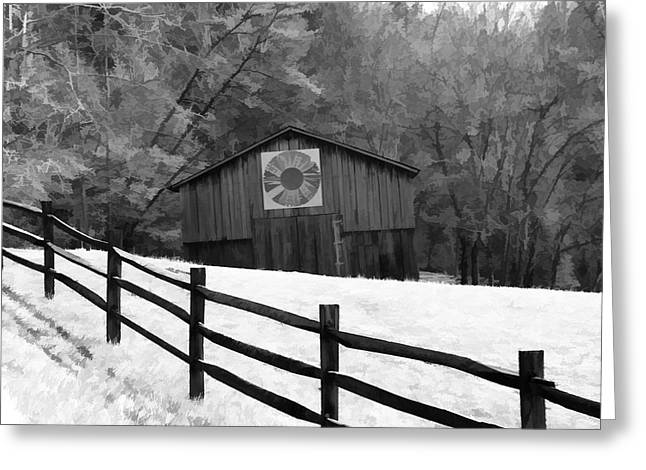 Old Barn In Kentucky Greeting Card by Dan Sproul