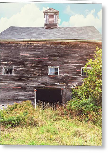 New England Barns Greeting Cards - Old barn in the sun Greeting Card by Edward Fielding