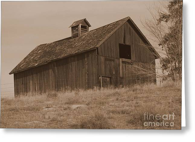 Old Structure Greeting Cards - Old Barn in Washington Greeting Card by Carol Groenen