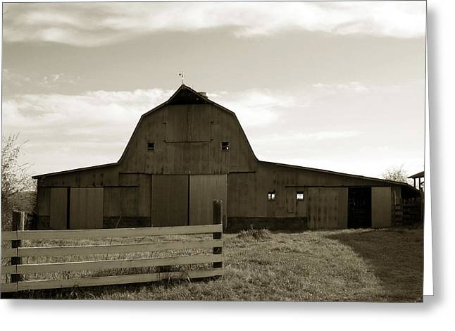 Julian Bralley Greeting Cards - Old Barn Greeting Card by Julian Bralley