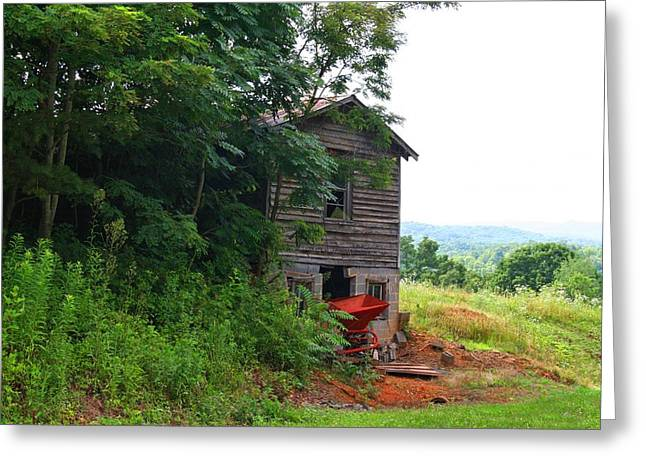 Shed Greeting Cards - Old Barn Greeting Card by Kathryn Meyer