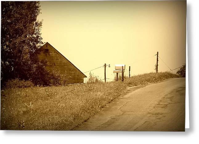 Old Barn  Greeting Card by Keith  Senecal