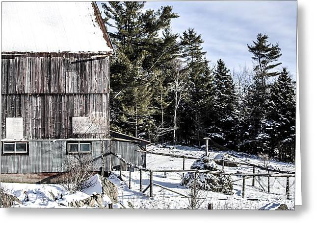 Old Pyrography Greeting Cards - Old Barn Greeting Card by Olga Photography