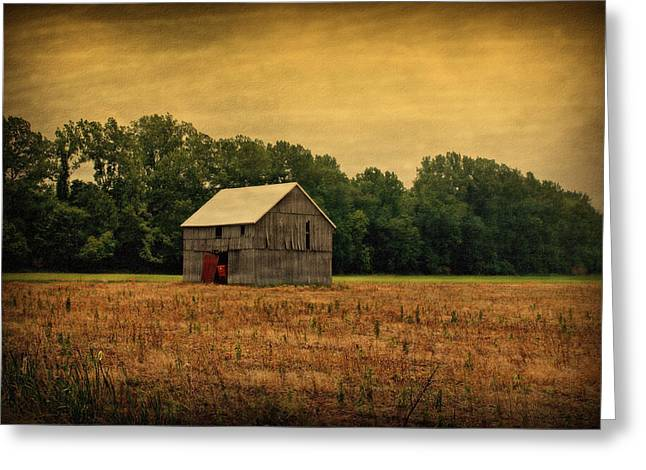 Indiana Farms Greeting Cards - Old Barn Greeting Card by Sandy Keeton