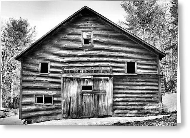 Old Maine Barns Greeting Cards - Old Barn_3716 Greeting Card by Joseph Marquis
