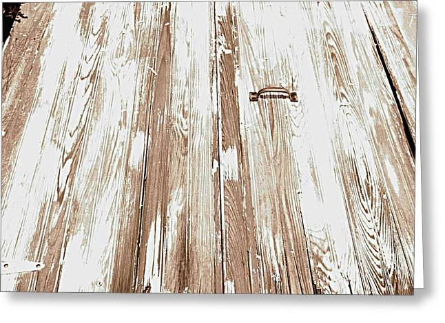 Old Basement Doors Greeting Card by Colleen Kammerer