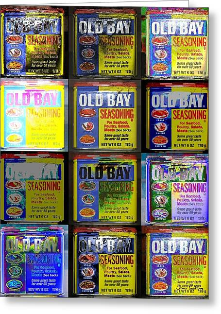 Eastern Shore Greeting Cards - Old Bay Andy Warhol Greeting Card by Jeffrey Todd Moore