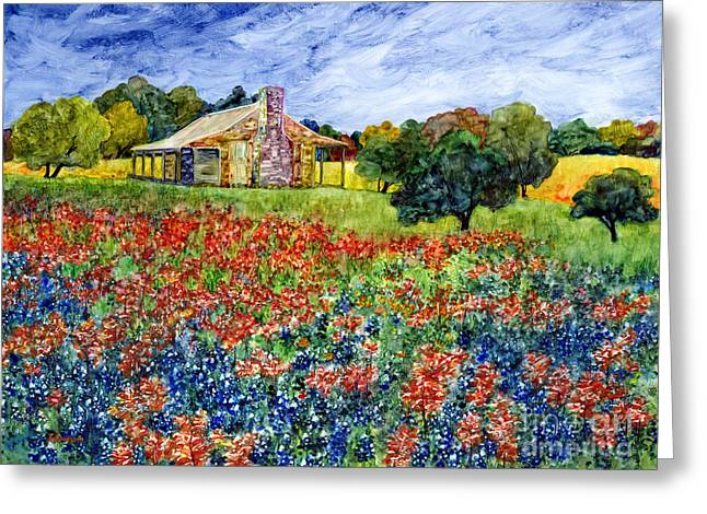 State Flowers Greeting Cards - Old Baylor Park Greeting Card by Hailey E Herrera