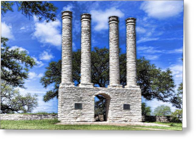 Waco Greeting Cards - Old Baylor Greeting Card by Stephen Stookey