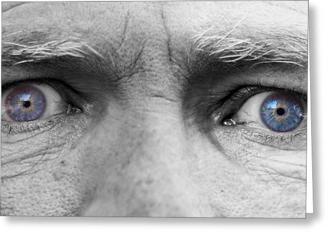 Gray Hair Greeting Cards - Old Blue Eyes Greeting Card by James BO  Insogna