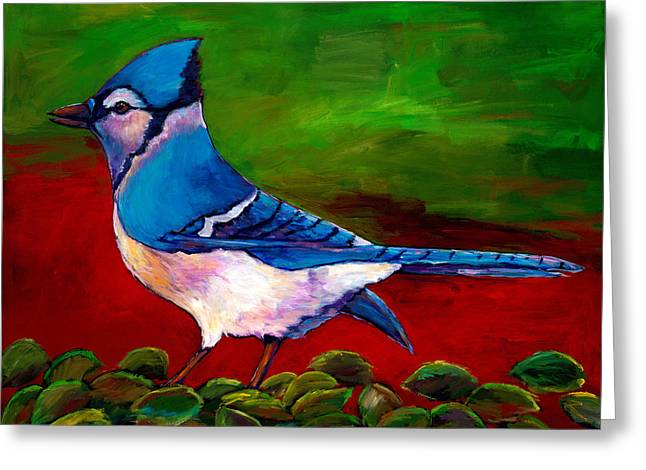 Vibrant Green Greeting Cards - Old Blue Greeting Card by Johnathan Harris