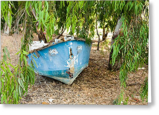 The Trees Greeting Cards - Old Boat  Greeting Card by Benny Blitzblau