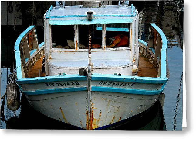 Old Fishing Boat Greeting Cards - Old Boat Greeting Card by Craig Incardone