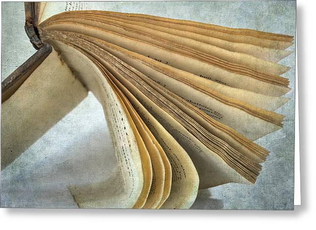 Depictions Greeting Cards - Old book Greeting Card by Bernard Jaubert