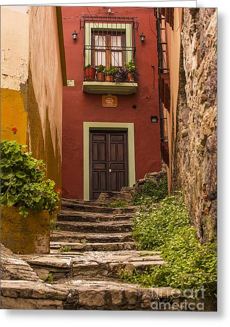 Stepping Stones Greeting Cards - Old Building in Guanajuato Mexico Greeting Card by Juli Scalzi