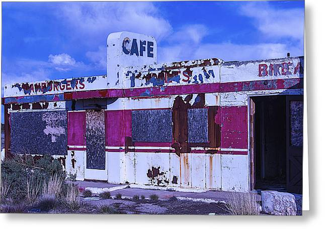Old Structure Greeting Cards - Old Cafe Rout 66 Greeting Card by Garry Gay