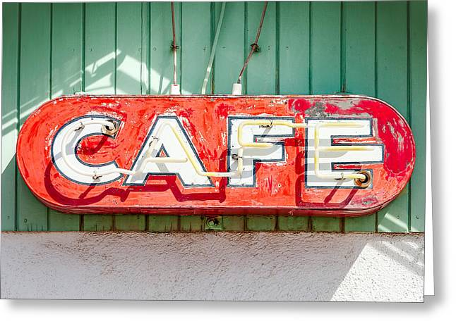 Old Cafe Sign Greeting Card by Todd Klassy