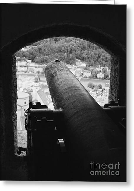 Salzburg Greeting Cards - Old Cannon Greeting Card by Hideaki Sakurai
