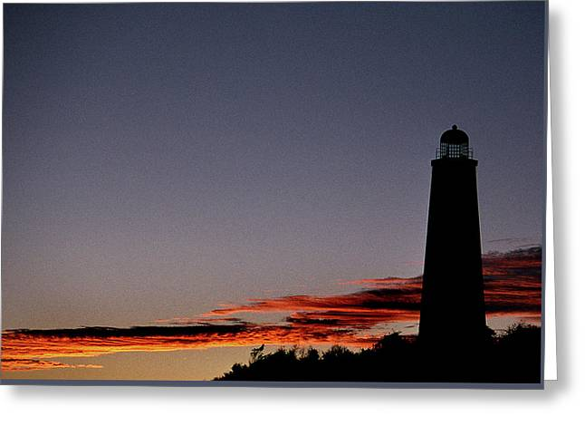 Photos Of Lighthouses Greeting Cards - Old Cape Henry Sunrise Greeting Card by Skip Willits
