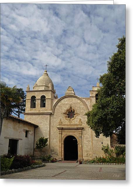 Old Carmel Mission Greeting Card by Gordon Beck