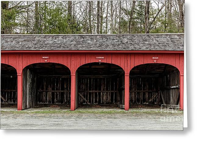 Old Carriage Shed Lyme New Hampshire Greeting Card by Edward Fielding