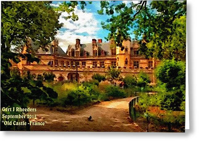 Jewelry Pastels Greeting Cards - Old Castle - France H A Greeting Card by Gert J Rheeders