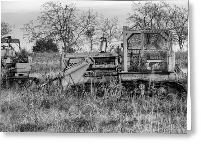 Bulldozer Greeting Cards - Old Cat III Greeting Card by Ricky Barnard