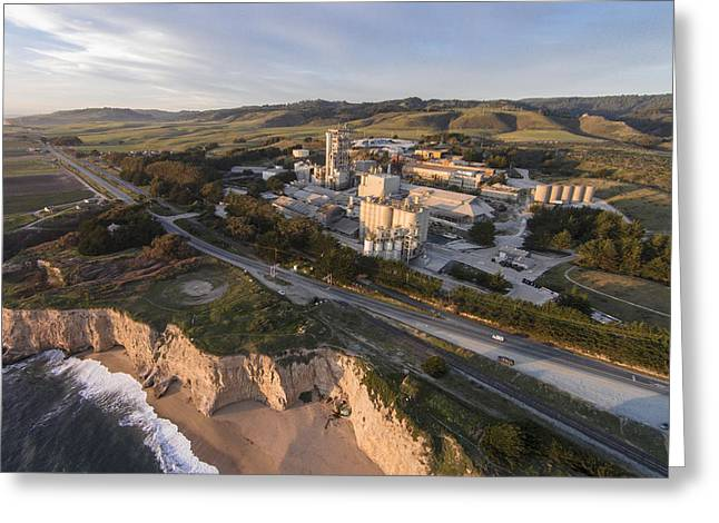 Santa Cruz Surfing Greeting Cards - Old Cemex Plant Greeting Card by David Levy