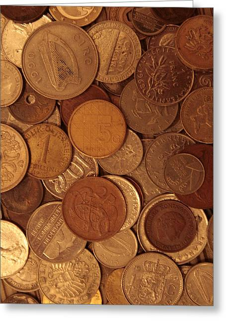 Coins Greeting Cards - Old Change Greeting Card by Christopher Kirby