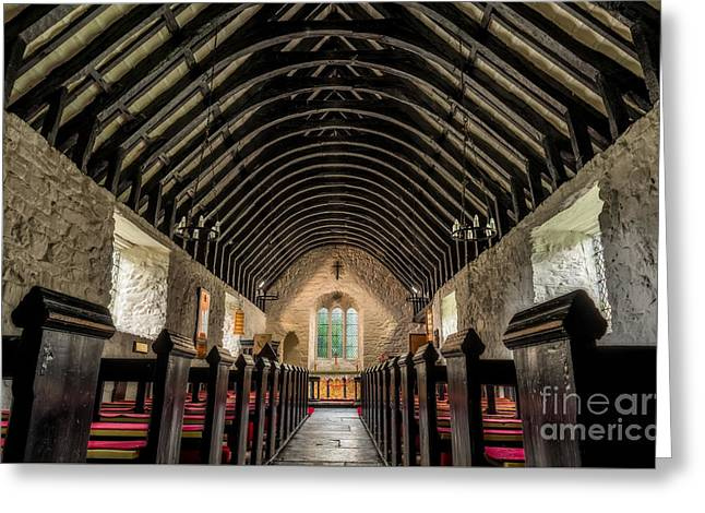 Old Chapel Greeting Card by Adrian Evans