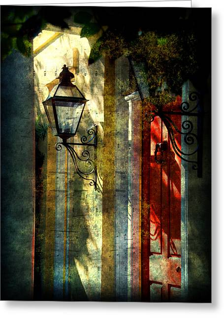 Old Charleston Sc Greeting Card by Susanne Van Hulst